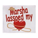 Marsha Lassoed My Heart Throw Blanket