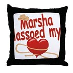 Marsha Lassoed My Heart Throw Pillow