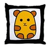 Cute Hamster Cartoon Throw Pillow