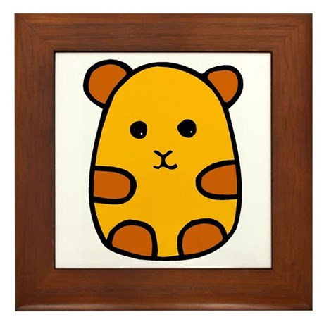 Cute Hamster Cartoon Framed Tile