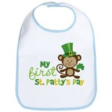 Monkey 1st St. Patrick's Day Bib