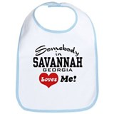 Somebody In Savannah Loves Me Bib