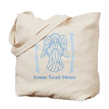 Angel in Blue, with Text. Tote Bag
