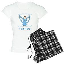 Singing Angel. Blue Text. Pajamas