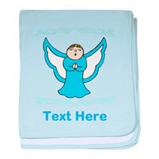 Singing Angel. Blue Text. baby blanket