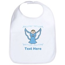 Singing Angel. Blue Text. Bib