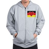 Heart Germany Flag Zip Hoodie