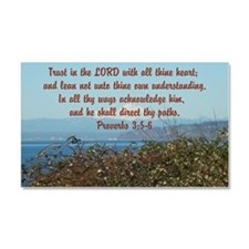 Cute Proverbs 3 Car Magnet 20 x 12