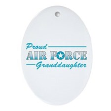 Proud Granddaughter Oval Ornament