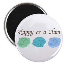 Happy as a Clam Magnet