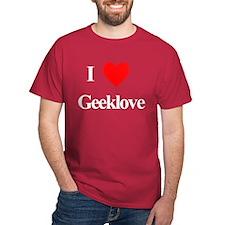 I Heart Geeklove Black T-Shirt