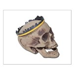 Skull Wearing Skyline Crown Small Poster