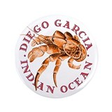 Red Coconut Crab 3.5&quot; Button (100 pack)