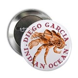 "Red Coconut Crab 2.25"" Button (10 pack)"