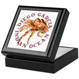 Red Coconut Crab Keepsake Box