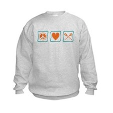 Peace, Love and Lacrosse Sweatshirt