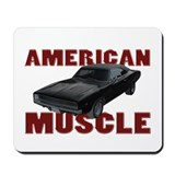 1968 Dodge Charger Brick Red Mousepad