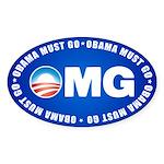 OMG Sticker (Oval 50 pk)