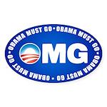 OMG Sticker (Oval 10 pk)