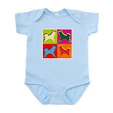 Alaskan Malamute Silhouette Pop Art Infant Bodysui