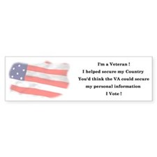 Veteran's Personal Information Bumper Bumper Sticker