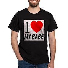 I Love My Babe Black T-Shirt