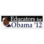 Educators for Barack Obama 2012 bumper sticker