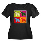 Fox Terrier Silhouette Pop Art Women's Plus Size S