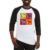 Fox Terrier Silhouette Pop Art Baseball Jersey