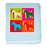 Fox Terrier Silhouette Pop Art baby blanket