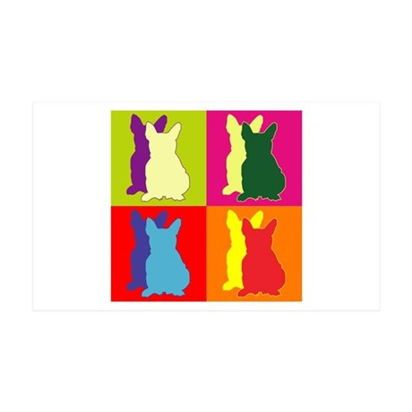 French Bulldog Silhouette Pop Art 38.5 x 24.5 Wall