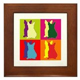 French Bulldog Silhouette Pop Art Framed Tile