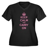 Keep calm and carry on Plus Size