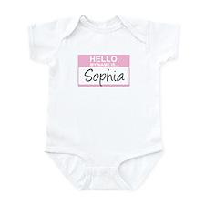 Hello, My Name is Sophia - Infant Bodysuit
