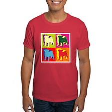 Pug Silhouette Pop Art T-Shirt