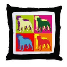 Rottweiler Silhouette Pop Art Throw Pillow