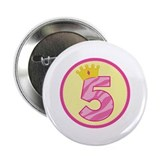 "5th Birthday Princess Crown 2.25"" Button"