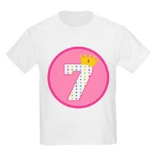7th Birthday Princess Crown T-Shirt