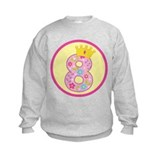 8th Birthday Princess Crown Sweatshirt