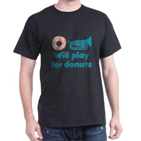 Will Play Baritone for Donuts Dark T-Shirt