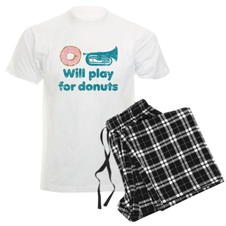 Will Play Baritone for Donuts Men's Light Pajamas