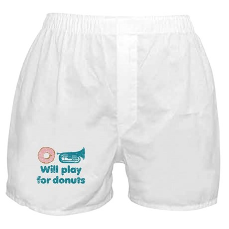 Will Play Baritone for Donuts Boxer Shorts