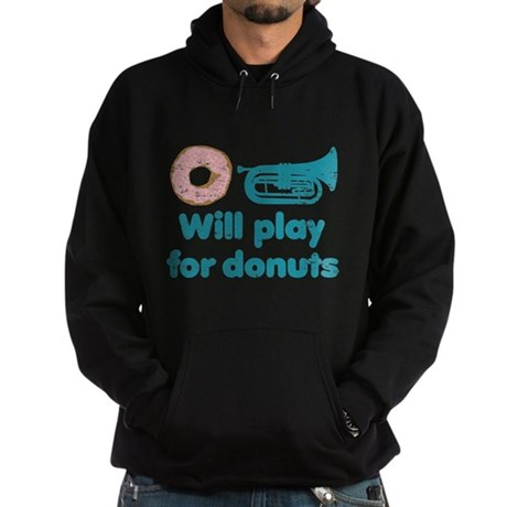 Will Play Baritone for Donuts Hoodie (dark)