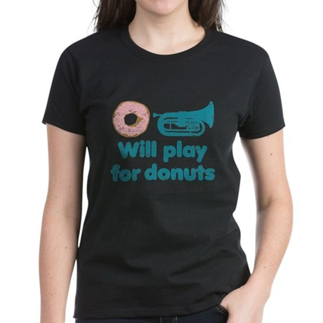 Will Play Baritone for Donuts Women's Dark T-Shirt