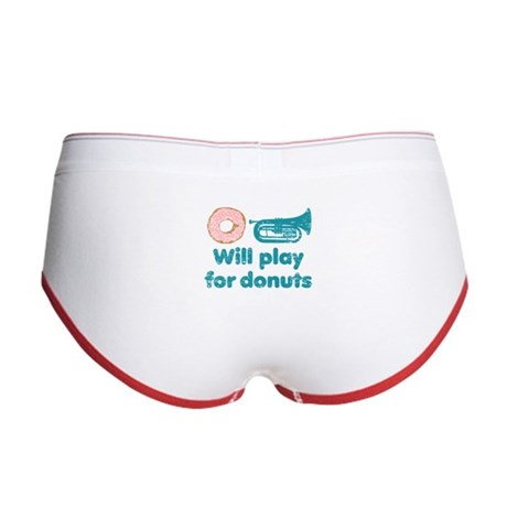 Will Play Baritone for Donuts Women's Boy Brief