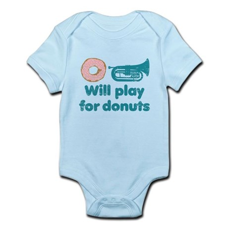 Will Play Baritone for Donuts Infant Bodysuit