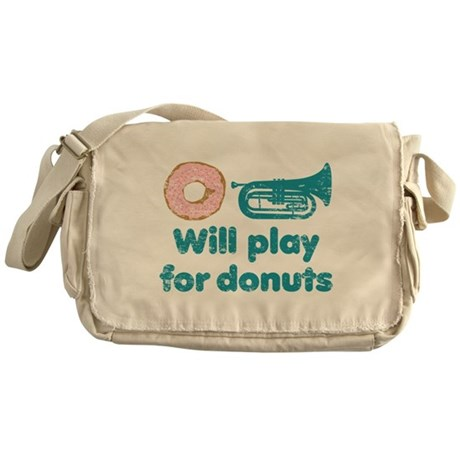 Will Play Baritone for Donuts Messenger Bag