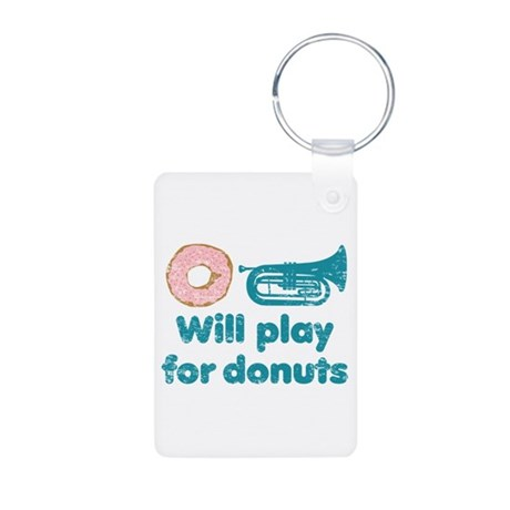 Will Play Baritone for Donuts Aluminum Photo Keych