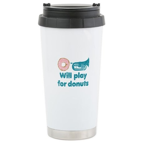 Will Play Baritone for Donuts Ceramic Travel Mug