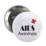 "Butterfly AIDS Awareness 2.25"" Button"